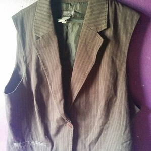 Pinstripe Additions By Chico's Vest Size 03